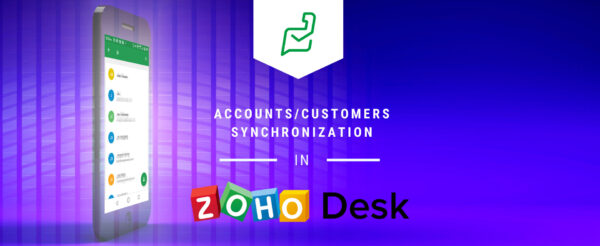 Accounts/Contacts Synchronization in Zoho Desk Mobile